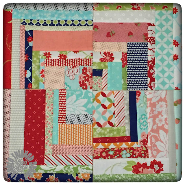 Bonnie and Camille Log Cabin Swap Block by Thistle Thicket Studio