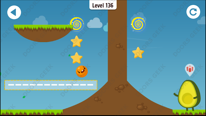 Where's My Avocado? Level 136 Solution, Cheats, Walkthrough, 3 Stars for Android, iPhone, iPad and iPod