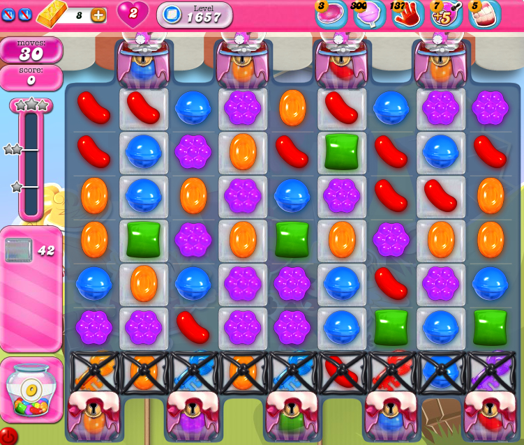 Candy Crush Saga 1657