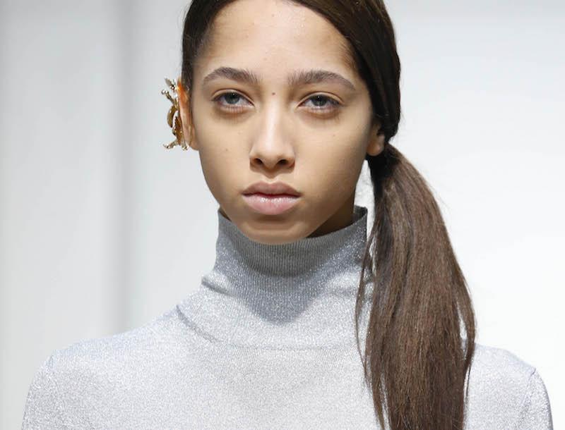Jasmine Wijnaldum at J.W.Anderson Fall 2017, London Fashion Week