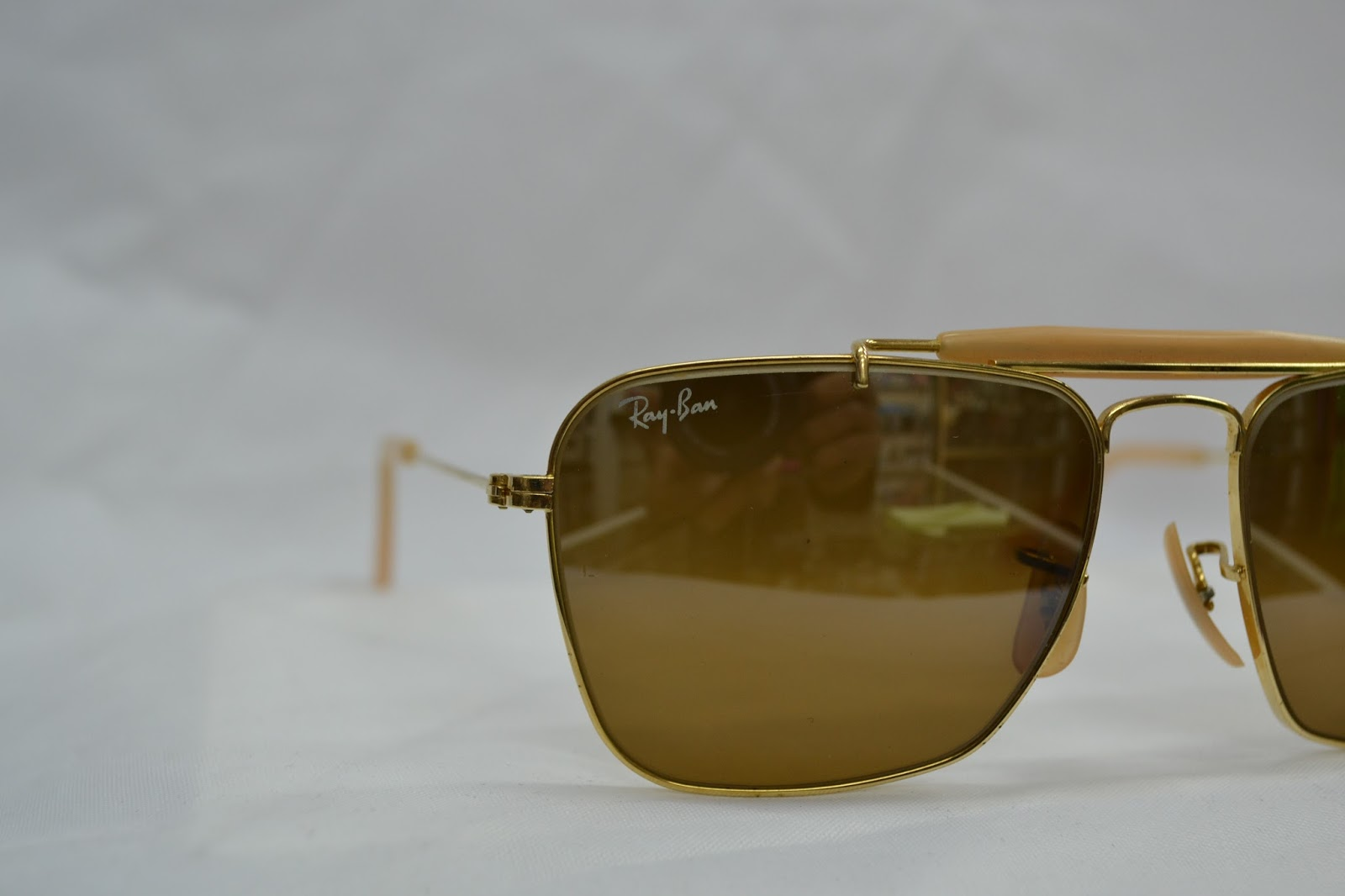 73ec60fc1a8 Vintage sunglass  Vintage Ray Ban caravan mirror lens! w1348! NOS! USA!