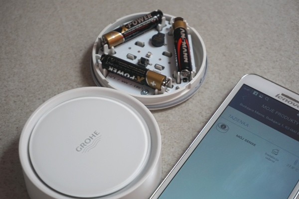 Grohe sense - połączenie ze smartfonem lenovo