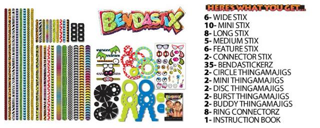 BENDASTIX pieces