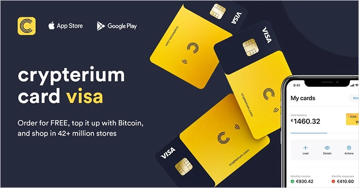 Crypterium Card VISA