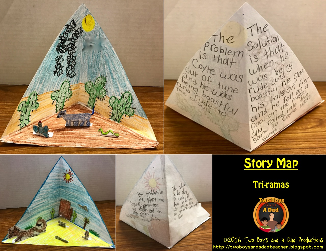 Tri-rama story map for the literature standards