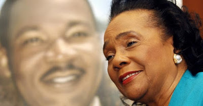 Coretta Scott King, wife of Martin Luther King