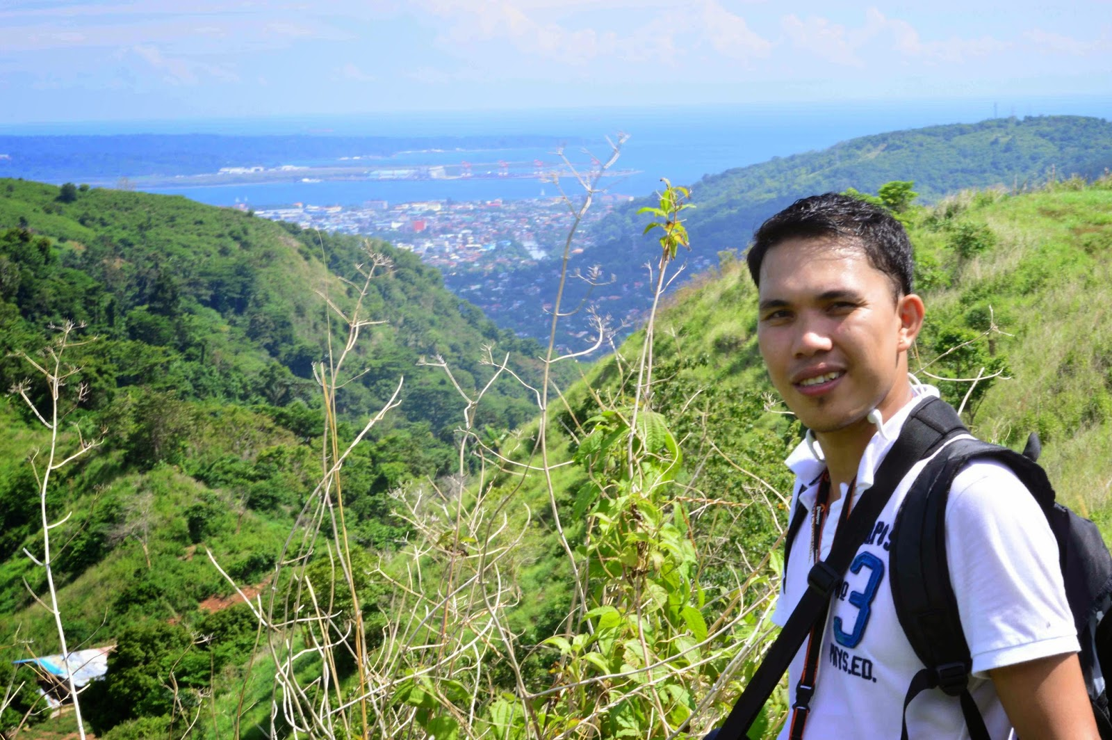 Subic Bay in the background