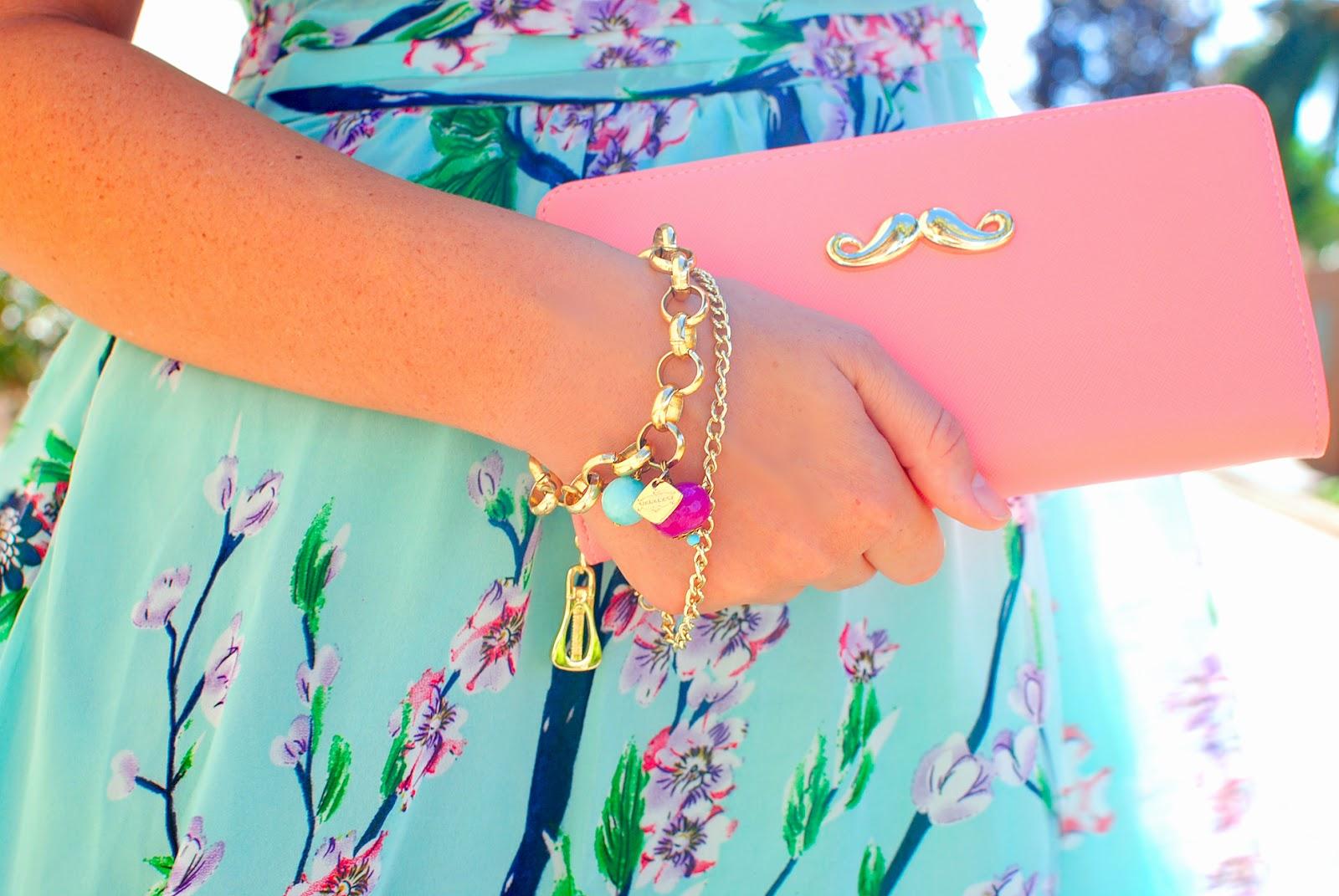 Almond blossom print , nery hdez, tanya's boutique, maharani, veatido largo , moustache