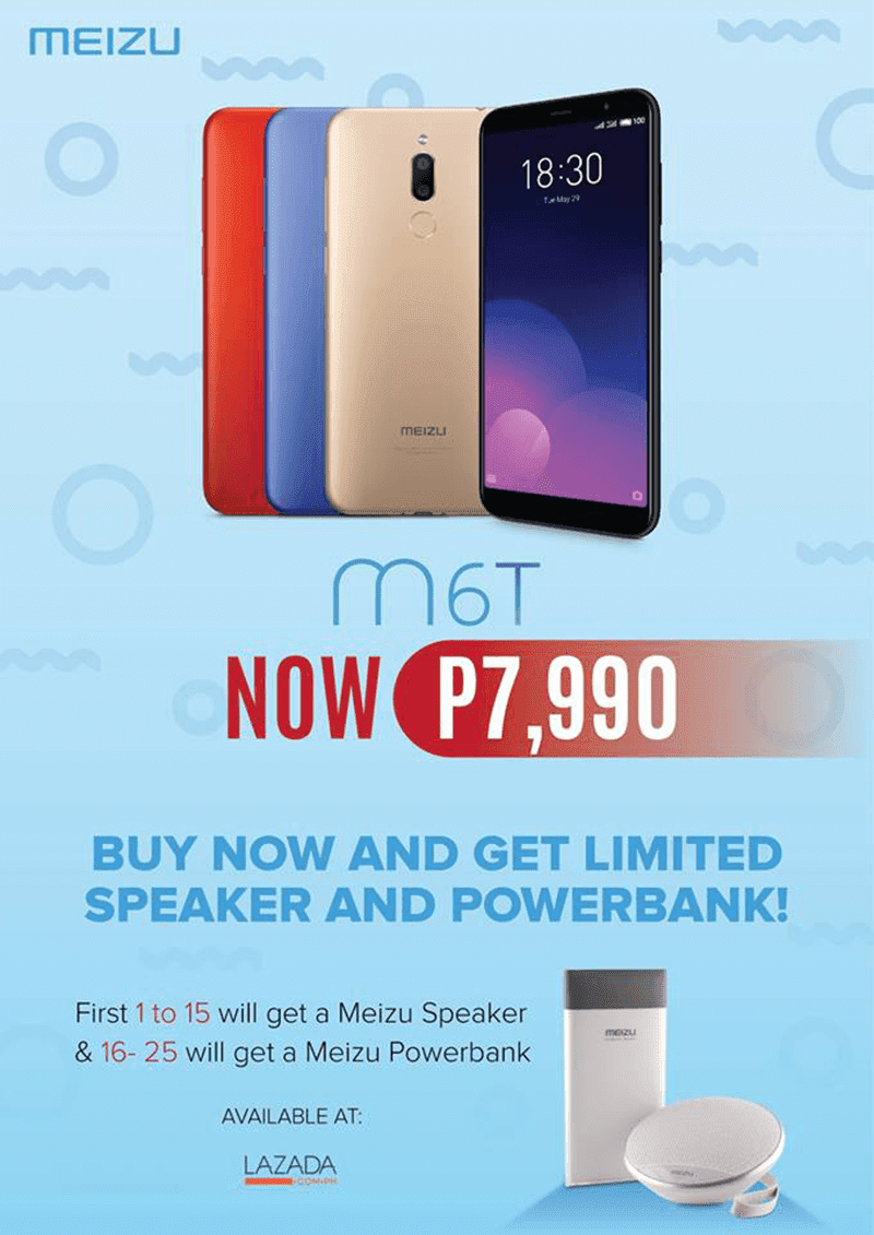 Meizu M6T with 18:9 screen, 4GB RAM, and dual cam is priced at PHP 7,990!