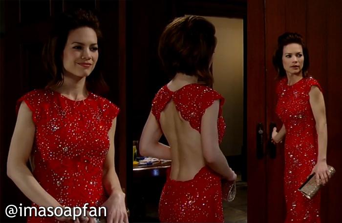 Elizabeth Webber, Rebecca Herbst, Red Dress, Nurses Ball, GH, General Hospital, Season 52, Episode 28, 5/08/14