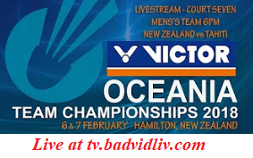 Victor Oceania Championships 2018 live streaming