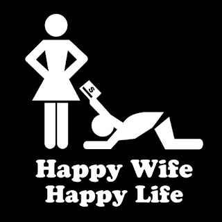 Funny happy wife happy life picture