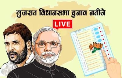 गुजरात विधानसभा चुनाव परिणाम 2017 LIVE: पीएम मोदी का जलवा बरकरार, BJP 105 सीट पर आगे,