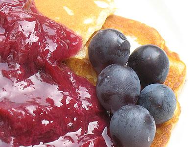 Blue Grape Pancakes