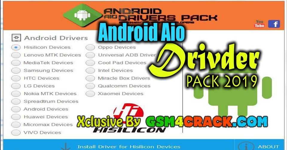 Android All In One Drivers Pack 2019 Free Download