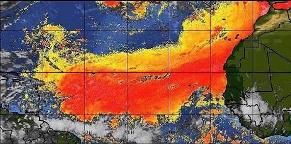 URGENTE: Polvo Intenso Del Sahara Se Aproxima A El Caribe.