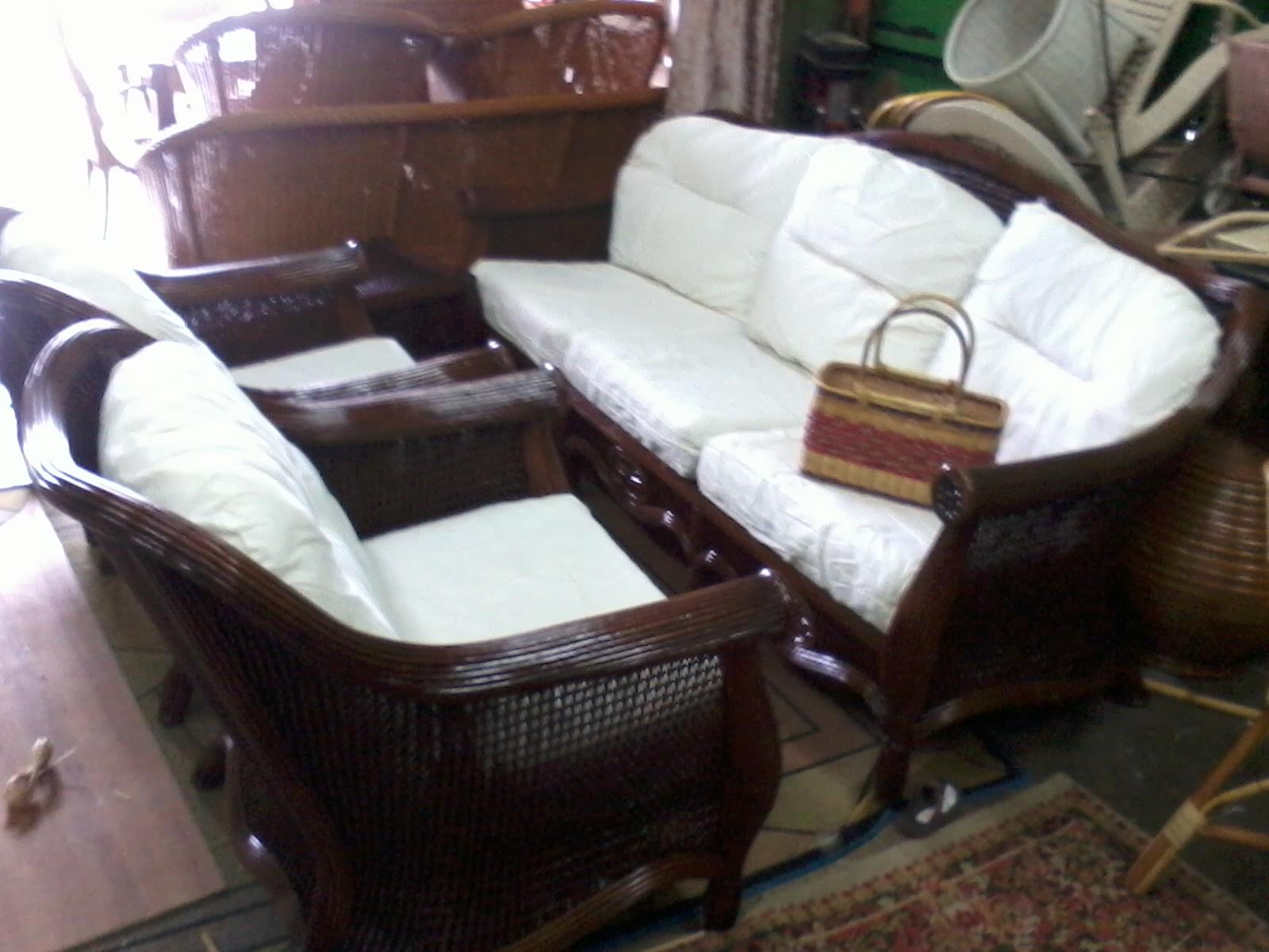 Kerusi Set Sofa Ruang Tamu Rotan