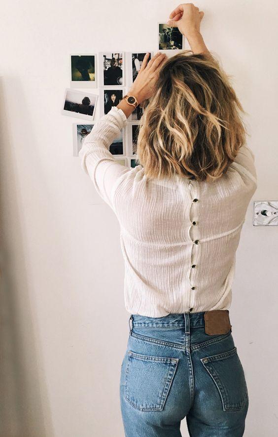 Adenorah - Button Back Ruffle Shirt