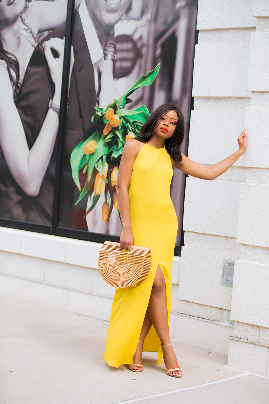summer maxi dress, yellow dress, cult gaia bag, www.jadore-fashion.com