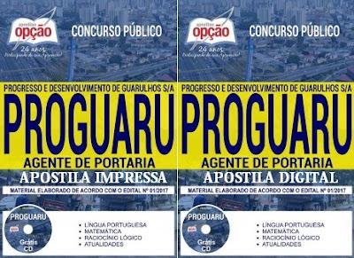 Apostila concurso PROGUARU SP 2017 Agente de Portaria