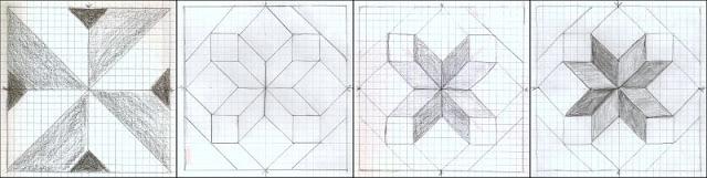 quilt block design collage