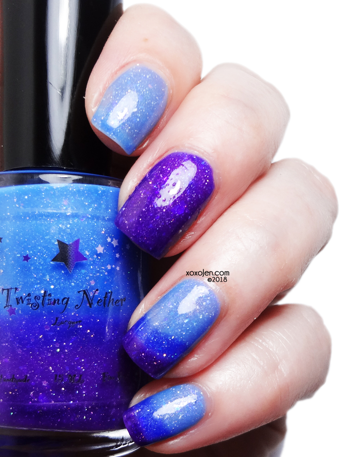 xoxoJen's swatch of Twisting Nether Winter's Kiss
