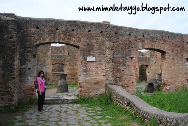 Edificio del molino en Ostia Antica