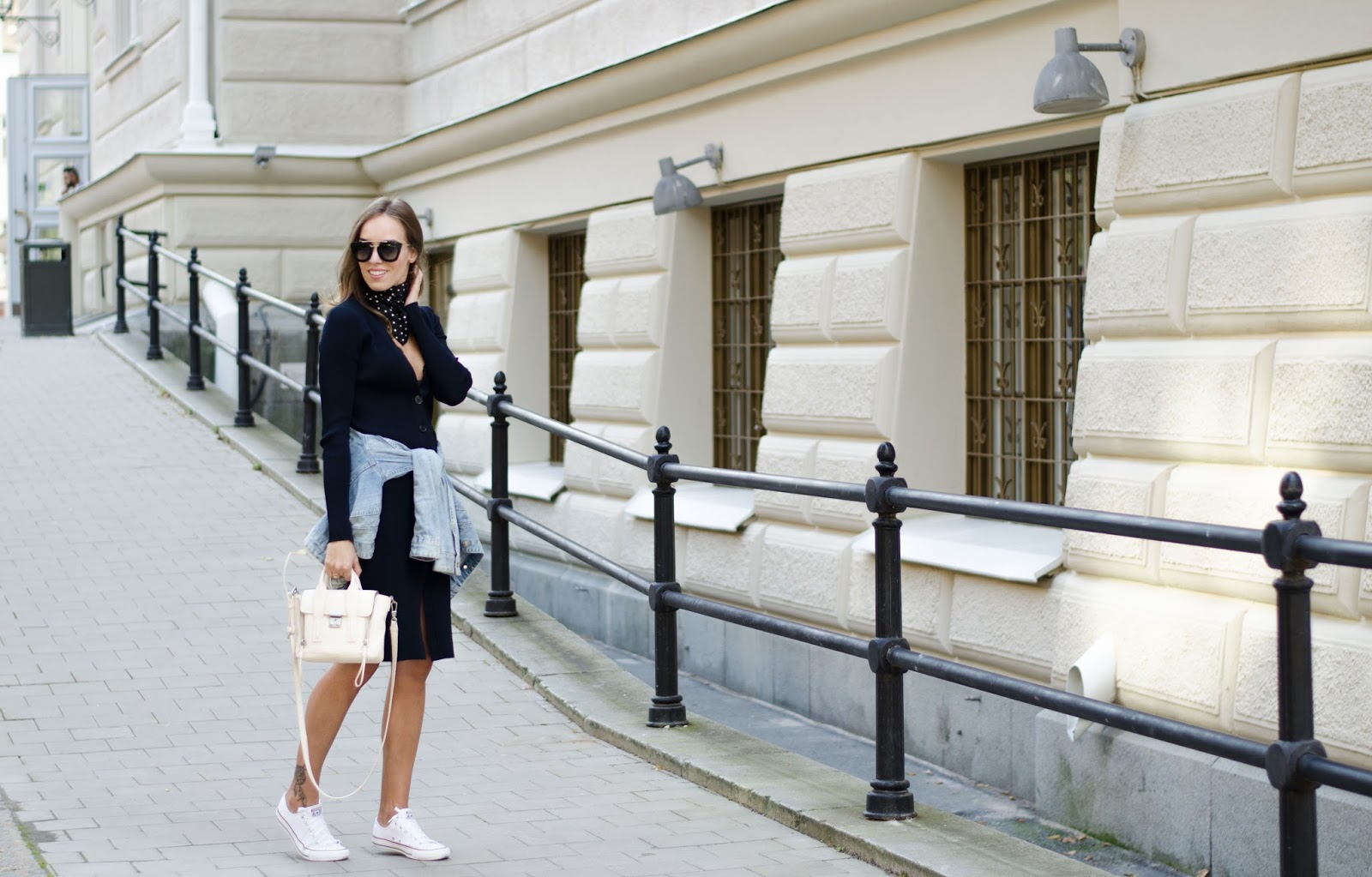 knitted midi dress casual outfit