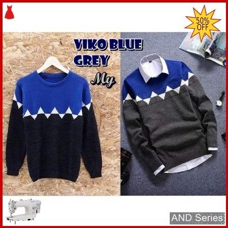 AND371 Sweater Pria Viko Biru Murah BMGShop