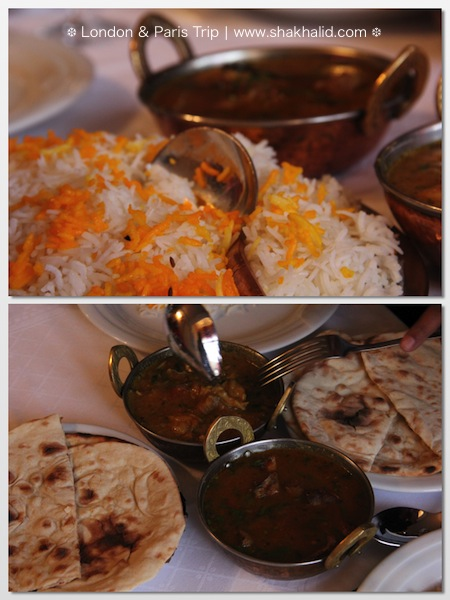 premium beautiful food at Indian restaurant Paris