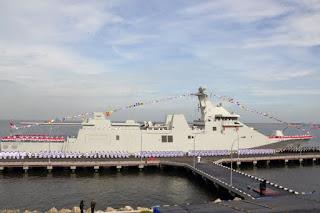 Menhan Resmkian KRI Raden Eddy Martadinata – 331, Kapal PKR Pertama Dibangun Di Dalam Negeri