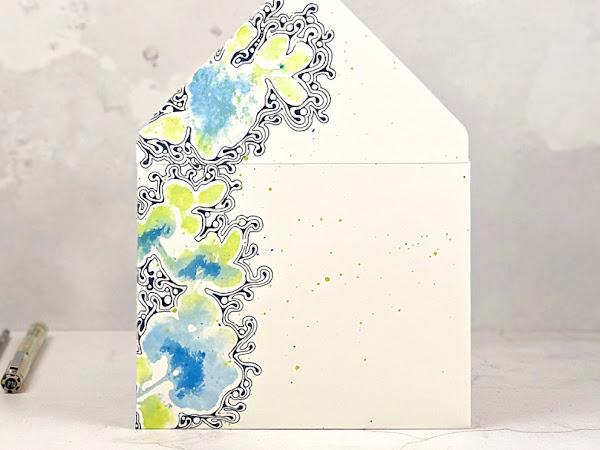 Zentangle® Envelope Art