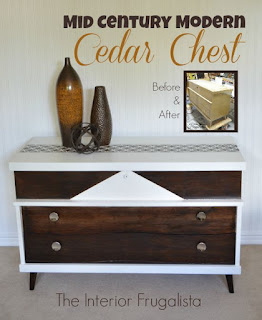 MCM Cedar Chest Makeover