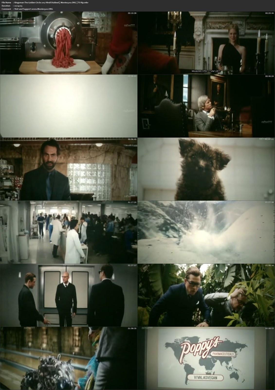 Kingsman The Golden Circle 2017 English 850MB HDTS 720p at movies500.me