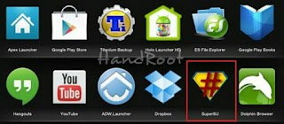 Menu SuperSU Android