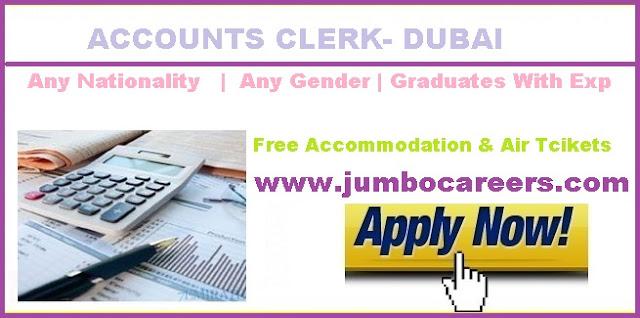 Accounts Clerk Job Dubai 2018