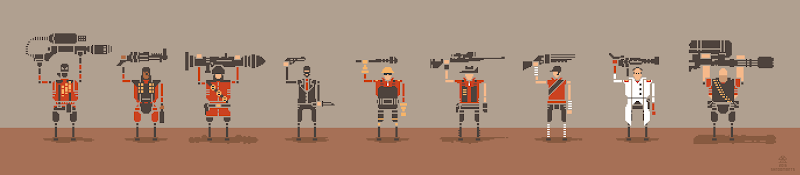 team fortress 2 pixelart classes