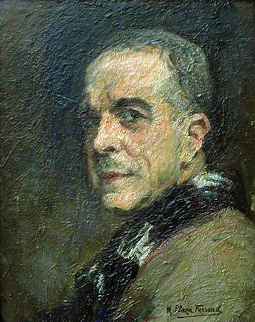 Marcial Plaza-Ferrand, Self Portrait, Portraits of Painters, Fine arts, Portraits of painters blog, Paintings of Marcial Plaza-Ferrand, Painter Marcial Plaza-Ferrand