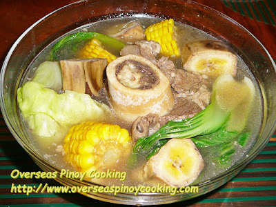 Pinoy Bulalo with Corn and Banana