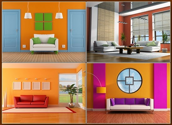 Orange colored interiors