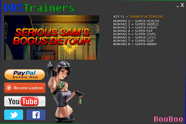 Serious Sam's Bogus Detour Trainer and Cheats for PC