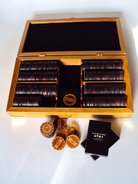 Terry Mahy Wooden Poker Set