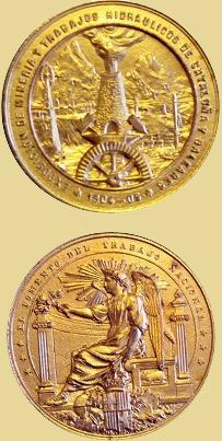 Medalla de la Exposición minera, Cataluña 1905