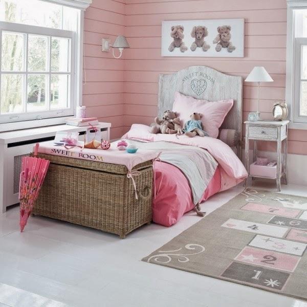Dormitorios color rosa para niña - Dormitorios colores y estilos