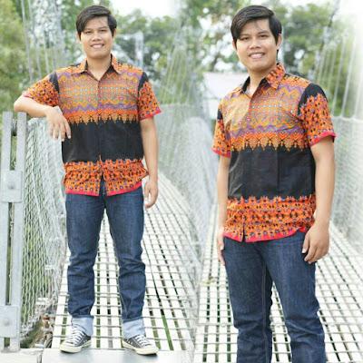 kemeja batik style anak kuliah pria