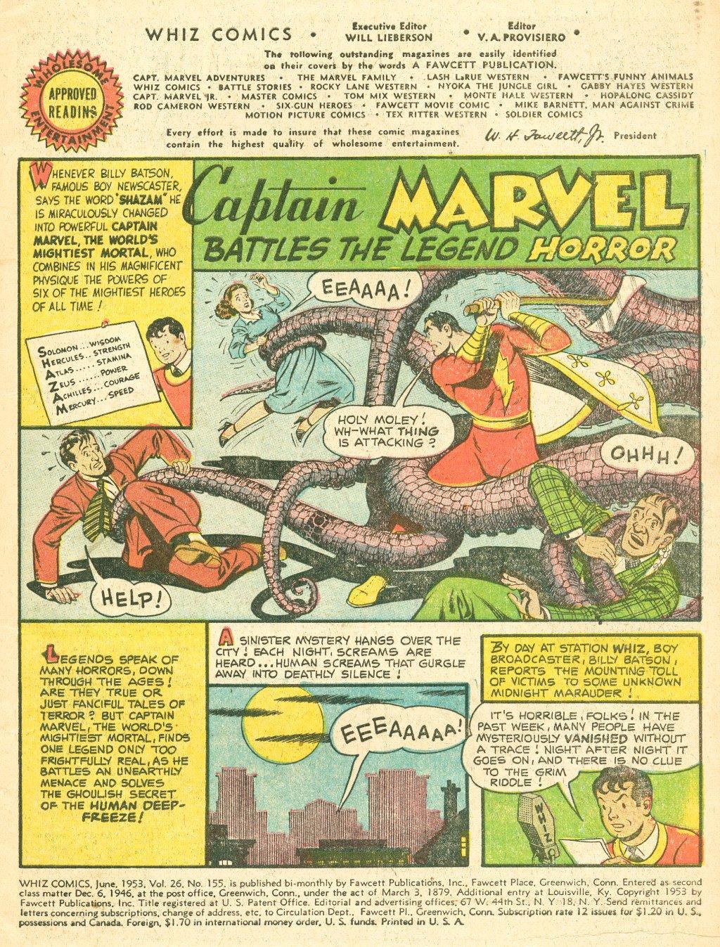 WHIZ Comics #155 #156 - English 3