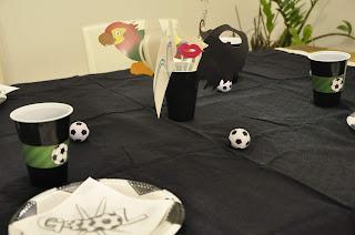 mesa cumpleaños futbol