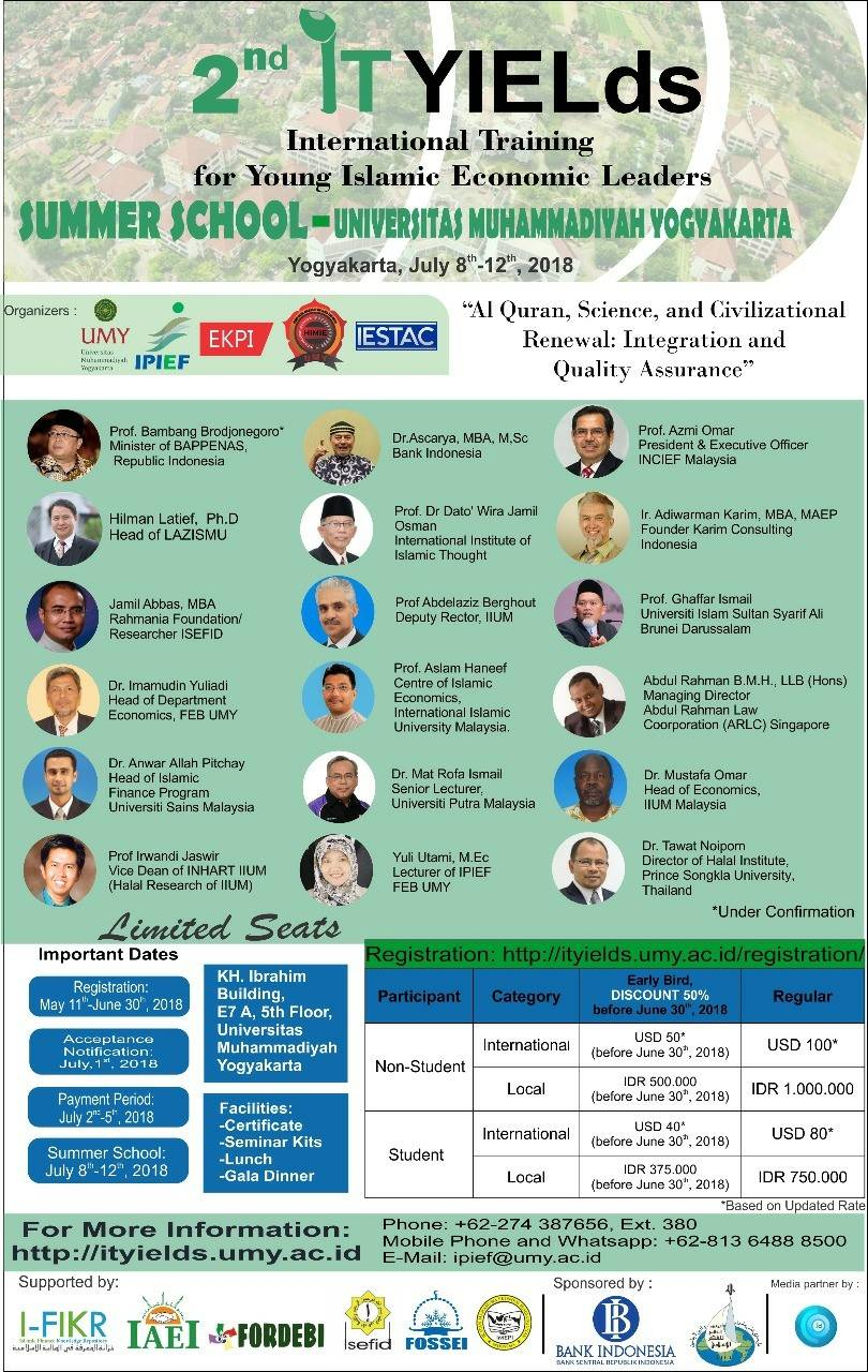 International Training for Young Islamic Economic Leaders (IT-YIELds)