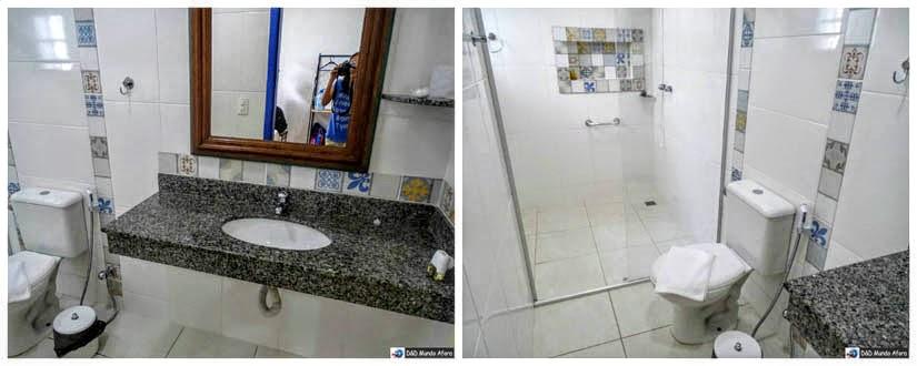 Banheiro da Pousada Solar das Gerais: hospedagem em Tiradentes