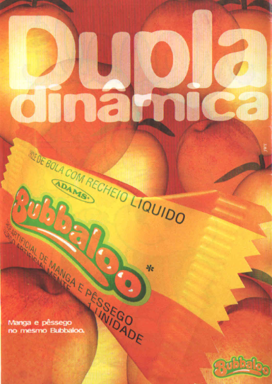 Propaganda do Bubbaloo Manga e Pêssego - 1995
